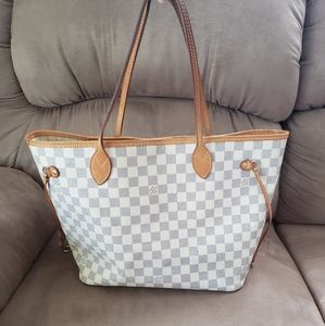 LOUIS VUITTON Neverfull in White Damier Canvas